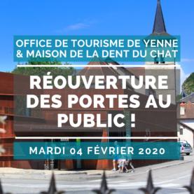 L'Office de Tourisme de Yenne - Maison de la Dent du Chat rouvre ses portes au public !