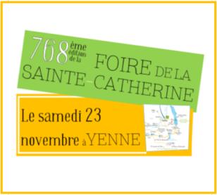768ème Foire de la Sainte-Catherine à Yenne !