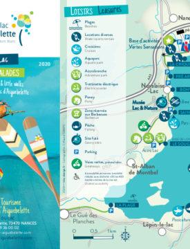 Carte Détente Loisirs autour du lac 2020